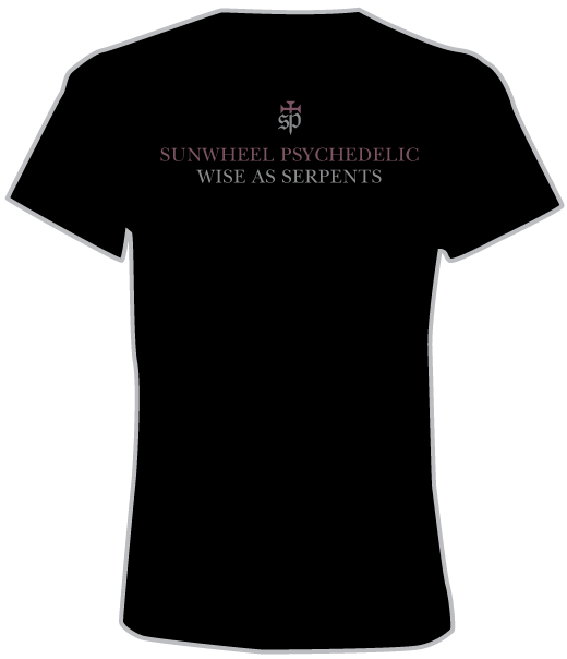 Sunwheel Psychedelic T-Shirt (Back View)